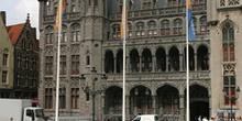 Vista de la Plaza Mayor, Brujas, Bélgica