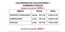 Exámenes Nivel I Distancia 20-21