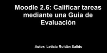 Moodle 2: Calificar tareas mediante una Guía de evaluación