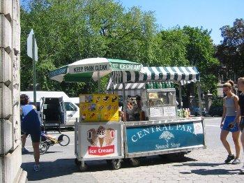Puesto de venta de helados en Central Park