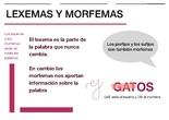 PRIMARIA 6º - LENGUA CASTELLANA Y LITERATURA - EL LEXEMA Y EL MORFEMA