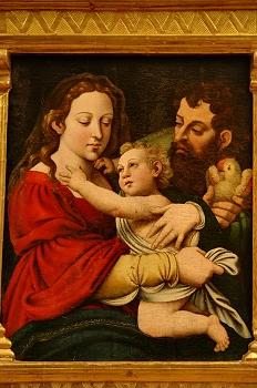 Sagrada Familia. óleo sobre tabla, Huesca