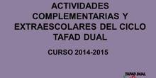 TAFAD-Dual Extraescolares y complementarias 2014-2015