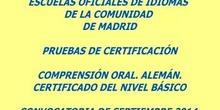 Certificado de Nivel Básico (A2). Alemán. Modelo B
