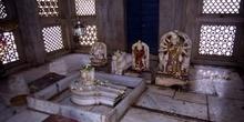 Imágenes en el interior de un templo hindú, Pushkar, India