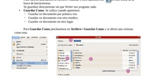 Guardar un documento en Libreoffice Writer