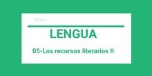 Los recursos literarios II