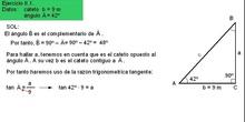 Trigonometría: 49. Ejemplo resolución triángulos 2