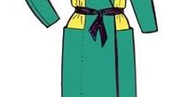 Vestido japonés cruzado