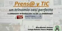 """""""Matemáticas, prensa y TIC, un trinomio casi perfecto"""" por Dª.Elisa Benítez Jiménez"""