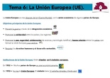 PRIMARIA 6º - CIENCIAS SOCIALES - LA UNIÓN EUROPEA