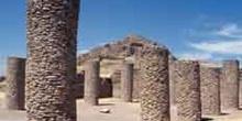 Salón de las columnas en el conjunto arqueológica de La Quemada,