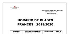 Horario francés 2019-2020