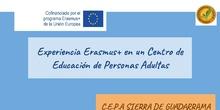 Experiencia Erasmus en un Centro de Adultos