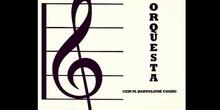 grupo de orquesta y de teatro del colegio