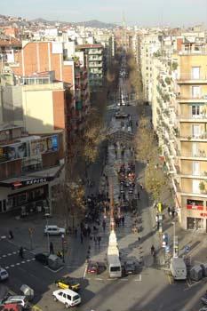 Calle de la Marina y Avenida Gaudí, Barcelona
