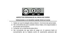 ASPECTOS PERSONALES AL INICIO DE CURSO