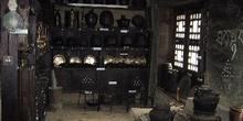 Utensilios de hogar en el museo Sherpa de Namche