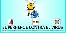 superhéroe contra el virus