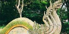 Detalle de hidra de varias cabezas, Tailandia