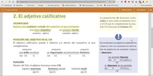 2º eso adjetivo calificativo