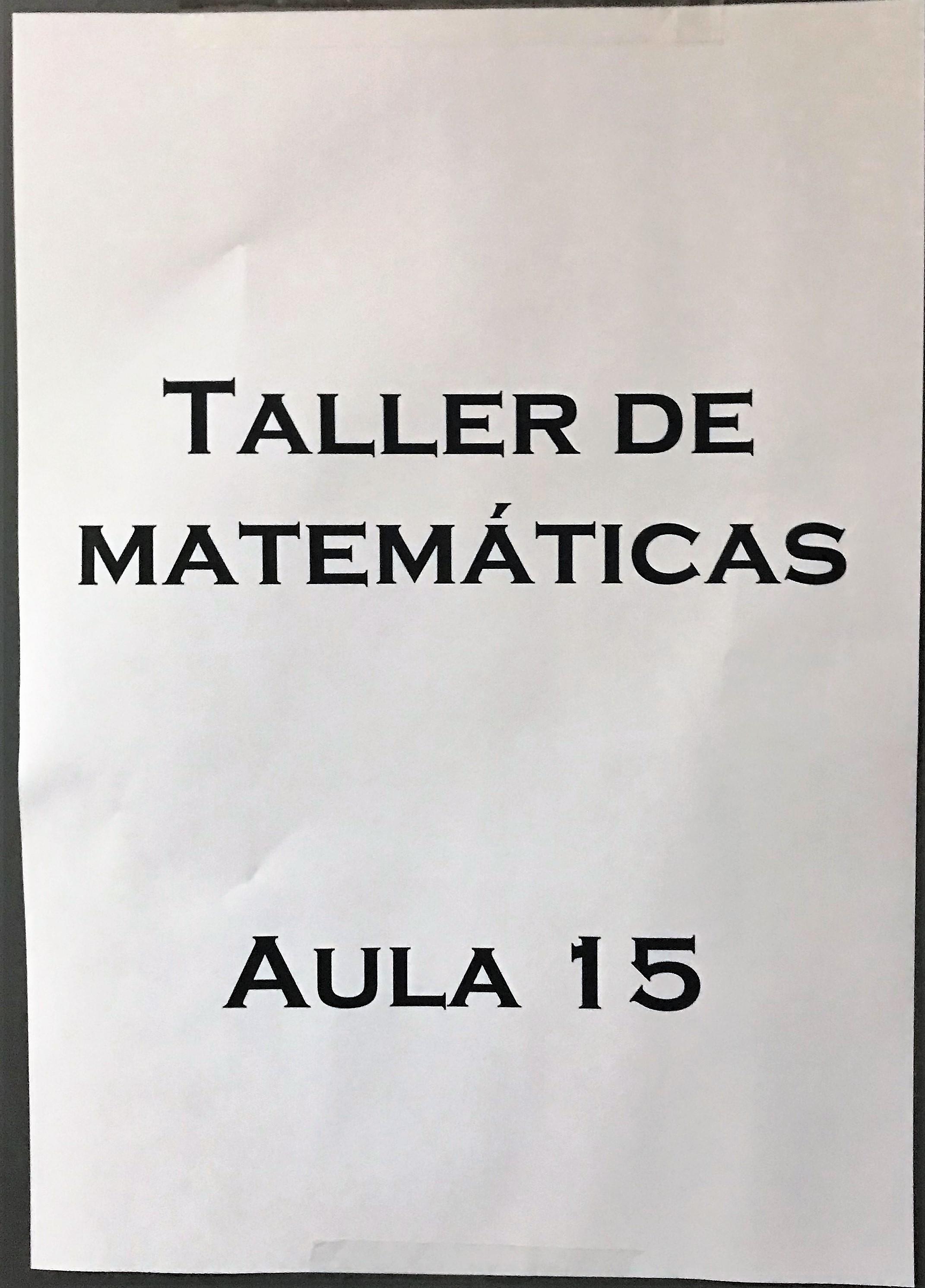 Talleres de Matemáticas 2