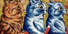 three cats singing