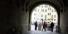 Entrada a la Plaza del Anfiteatro, Lucca