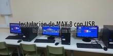 Instalación de un aula de MAX 8 en una mañana.