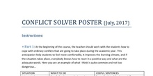 CONFLICT SOLVER POSTER