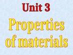 Materials: properties