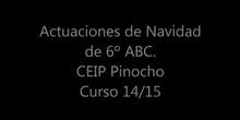 Actuaciones de Navidad en Inglés de 6º de EP. 2014/15 CEIP Pinocho