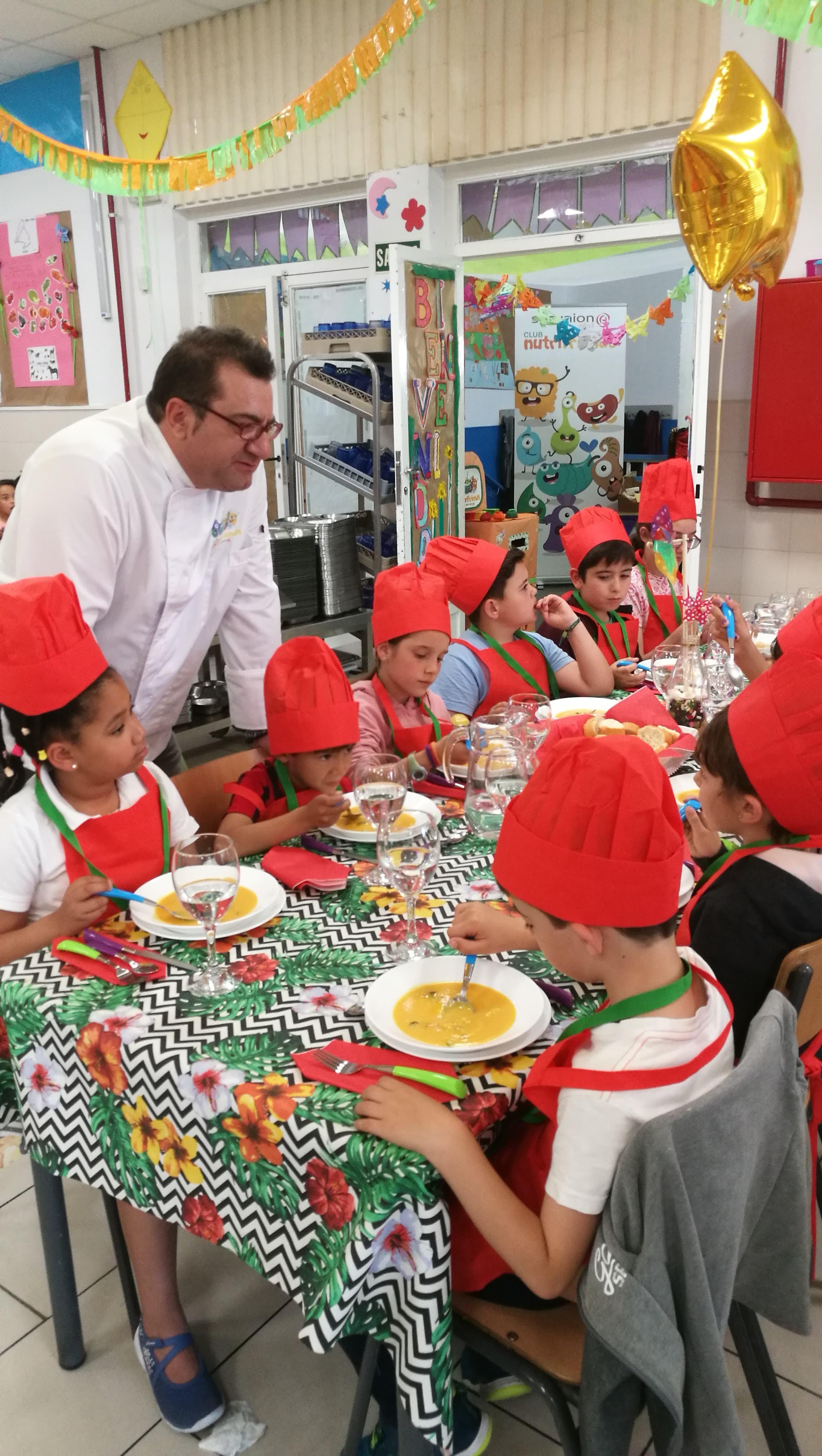 Visita del chef Sergio Fernández - Nutrifriends en el Comedor 8