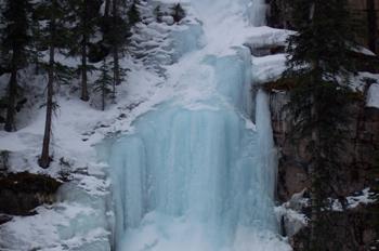 Cascada helada, Lago Louise, Parque Nacional Banff