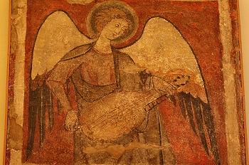 ángel músico tocando el organistrum, Huesca