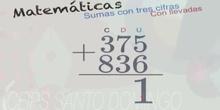 Sumas de tres cifras con llevadas