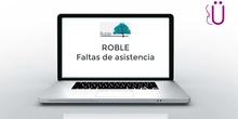 Gestión de faltas de asistencia en portalWeb ROBLE