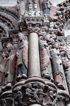 Detalle del Pórtico del Paraíso, Catedral de Orense, Galicia