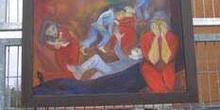 Cuadro pintado en memoria de las víctimas de los Atentados del 1