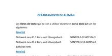Libros de texto alemán 2021-2022
