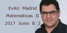 EvAU Matemáticas II 2017 Junio B 3 Geometría