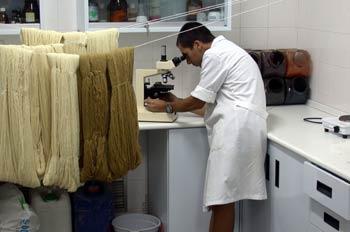 Laboratorio de teñido