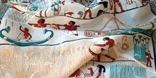 Crepé de seda artificial estampada
