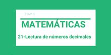Lectura números decimales