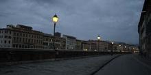 Arno de noche, Pisa