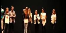 Participación del Grupo de Teatro Fortuny en la Clausura de los Certámenes de Teatro, Danza y Oratoria en inglés de la Comunidad
