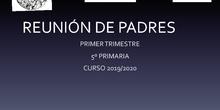 REUNIÓN PADRES 1T QUINTO 2019/20