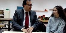 #cervanbot III -.Visita del Alcalde de Leganés (grabado por alumnos)