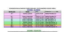 Horario escalonado 2020-2021 EOI CL