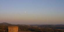 Anochecer en el Castillo de Aracena, Huelva, Andalucía